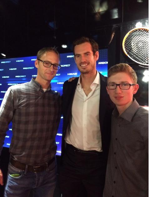 Paul Schäfer und Marc Pigan treffen Andy Murray in London