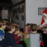Der Nikolaus bei Blau-Weiss im Clubhaus 06.12.2019